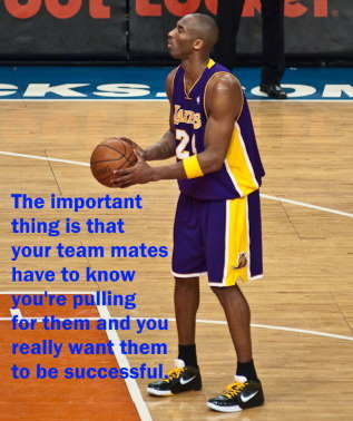 Kobe Bryant inspirational team building quotes