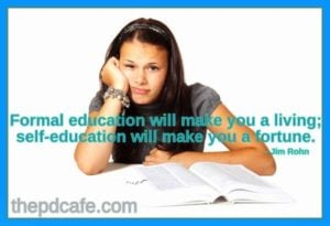 jim rohn personal development quote on education
