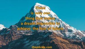 fear of failure personal development quote