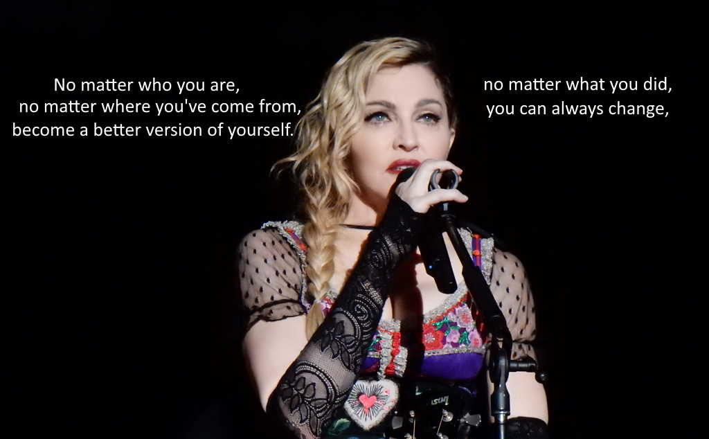best self improvement quotes Madonna