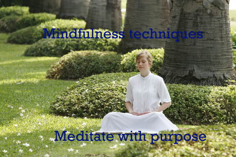 mindfulness techniques reduce stress with mindful meditation