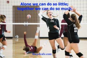 Helen Keller inspirational team building quote