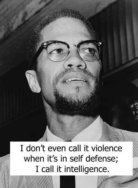 Malcolm X quotes on nonviolence